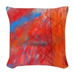 Crazy Vibrance Woven Throw Pillow