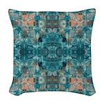 Subaqueous Kaleidoscope Woven Throw Pillow