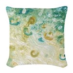 Sand and Surf Abstract Woven Throw Pillow