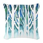 Winter Silhouette Woven Throw Pillow
