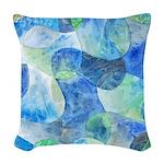 Aquatic Abstract Woven Throw Pillow
