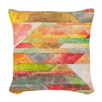 Crystal Colors Woven Throw Pillow