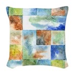 Slated Watercolor Woven Throw Pillow