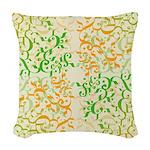 Abstract Arabic Woven Throw Pillow