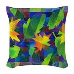 Leaf Mosaic Woven Throw Pillow