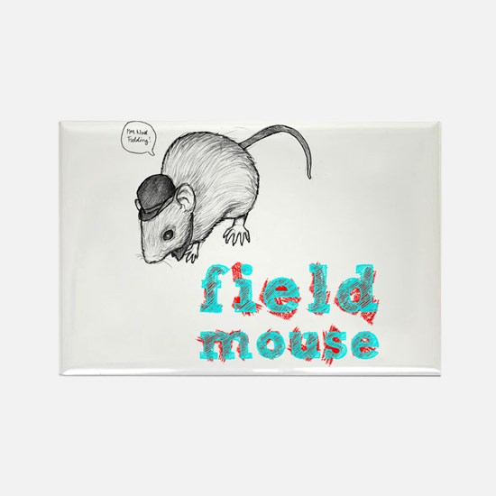Fieldmouse Rectangle Magnet