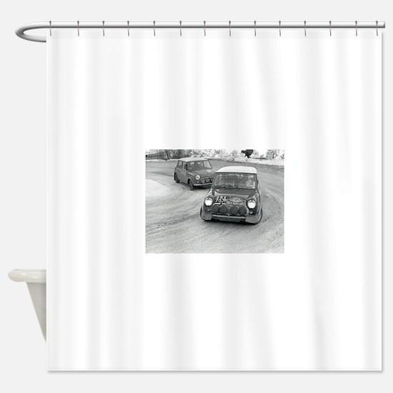 Mini Rally Shower Curtain