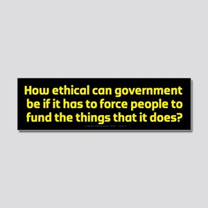 Government Ethics Car Magnet 10 x 3