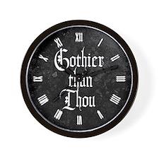 Gothier Than Thou Wall Clock