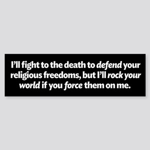 Defending Religious Freedom Bumper Sticker