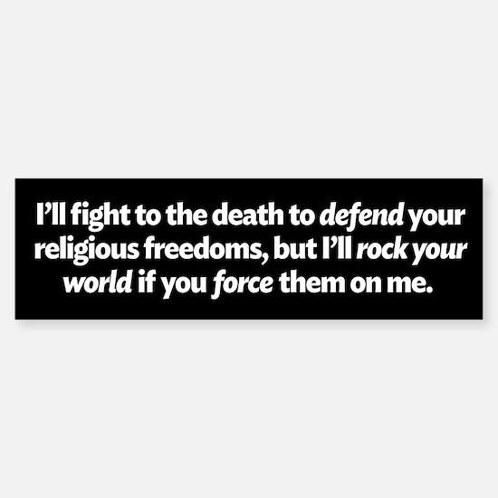 Defending Religious Freedom Bumper Bumper Bumper Sticker