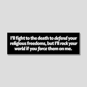 Defending Religious Freedom Car Magnet 10 x 3