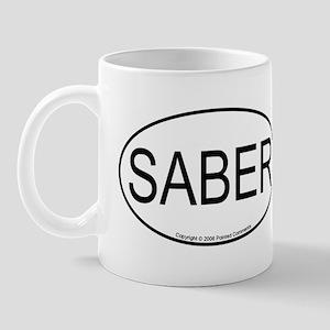 Saber oval Mug