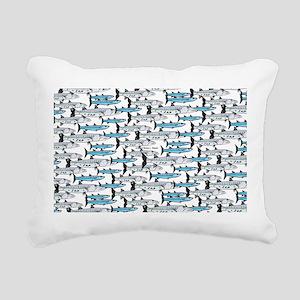School of Barracudas 1 Rectangular Canvas Pillow
