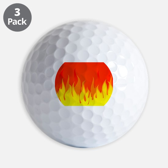 Fires Golf Ball