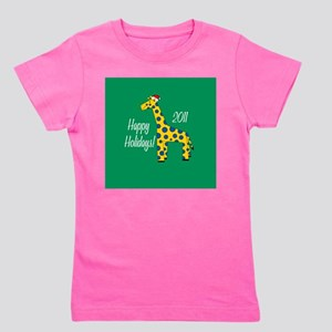 Giraffe Holiday Girl's Tee