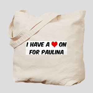 Heart on for Paulina Tote Bag