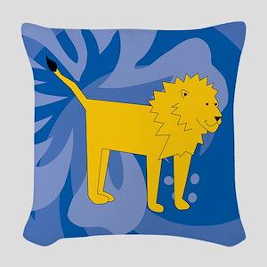 Lion Woven Throw Pillow