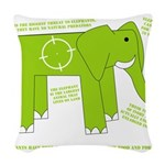 Elephant Woven Throw Pillow