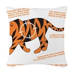 Tiger Facts Woven Throw Pillow