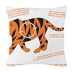 Tiger Facts Woven Throw Pillow