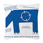 Rhino Facts Woven Throw Pillow