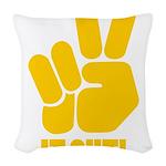 peaceitout10 Woven Throw Pillow