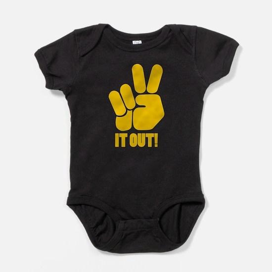 peaceitout10.png Baby Bodysuit