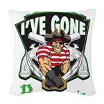 Organic Pirate Woven Throw Pillow