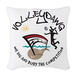 volleydawg 10 Woven Throw Pillow