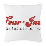 Four-Jack Woven Throw Pillow