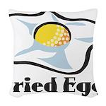 Fried Egg Woven Throw Pillow