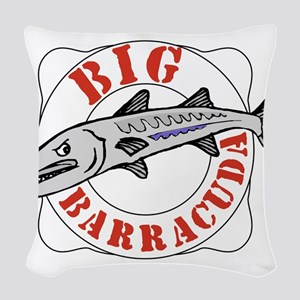 BigBarracuda10 Woven Throw Pillow
