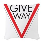 Give Way 10 Woven Throw Pillow