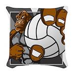 Apex Volleyball Woven Throw Pillow