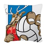 Bucks County Volleyball Woven Throw Pillow