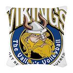 Vikings Logo Woven Throw Pillow
