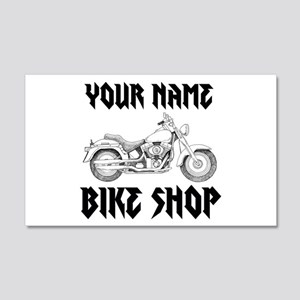 Custom Bike Shop Wall Decal