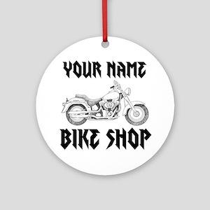 Custom Bike Shop Ornament (Round)