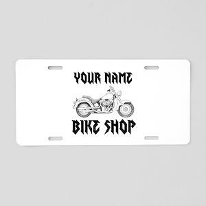 Custom Bike Shop Aluminum License Plate