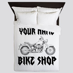 Custom Bike Shop Queen Duvet
