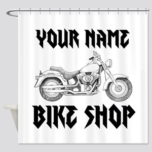 Custom Bike Shop Shower Curtain