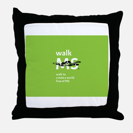 Walk to create a world free of MS Throw Pillow