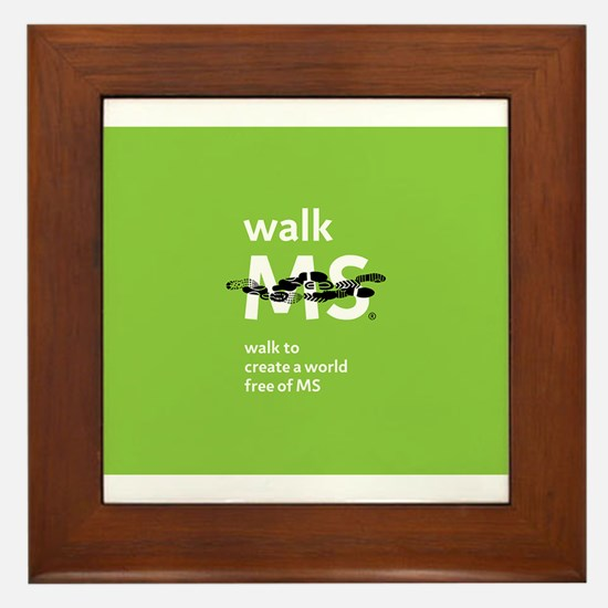 Walk to create a world free of MS Framed Tile