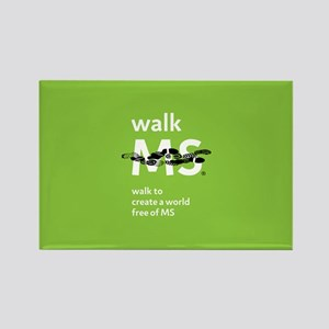 Walk to create a world free of MS Rectangle Magnet