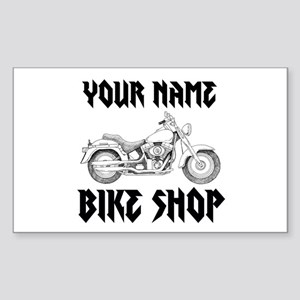 Custom Bike Shop Sticker