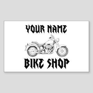 Custom Bike Shop Sticker