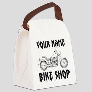 Custom Bike Shop Canvas Lunch Bag