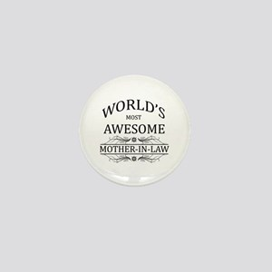 World's Most Awesome Mother-in-Law Mini Button