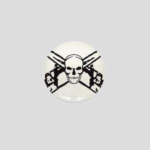 Skull and Chainsaws Mini Button